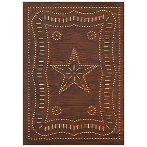 "Vertical Federal Panel 10""x14"" Rustic Tin"