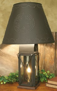 Large Milk House 4-Way Lamp with Star Shade