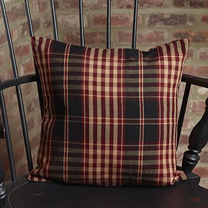 "16"" Village Plaid Pillow"