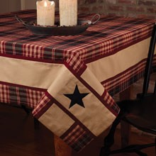 "54x54"" Village Star Tablecloth"