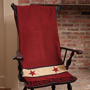 Cranberry Barn Star Throw