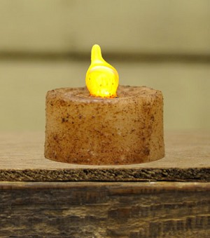 Burnt Ivory Switch Tealight - Battery Operated
