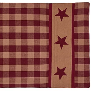 "54"" Cranberry Country Star Runner (13 x 54"")"