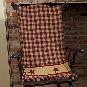 "Cranberry Country Star Throw (50 x 60"")"