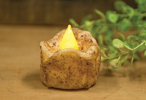 Flickering Burnt Ivory Timer Tealight