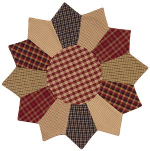 "13"" Cranberry Patchwork Mat"