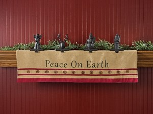 Peace on Earth Mantle Scarf