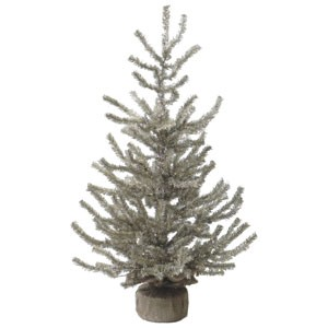 "24"" Antique Silver Pine Tree"