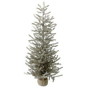 "36"" Antique Silver Pine Tree"