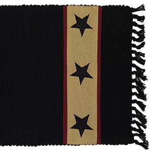 "36"" Black Barn Star Runner (13x36"")"