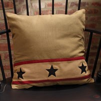 "16"" Khaki Barn Star Pillow (16x16"")"