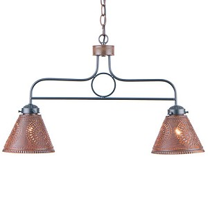 Medium Franklin Hanging Light in Rustic Tin