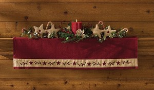 Christmas Star Mantle Scarf