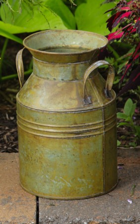 Milk Can - Antique Green