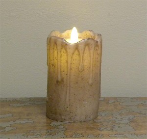 Flameless Candle - Lifelike Motion Flickering Flame - Tan