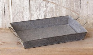 Tray - Galvanized Rusty