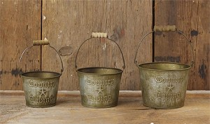 Country Living Buckets - Set of 3