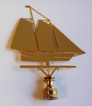 Schooner Lamp Finial