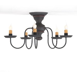 Thorndale Ceiling Light in Hartford Blk w/Rd Strpe