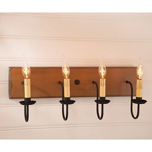 Four Arm Vanity Light in Sturbridge Mustard