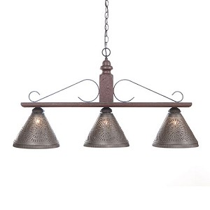 Wellington Large Hanging Light in Plantation Red