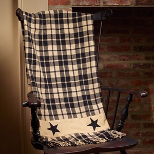 "Black Farmhouse Star Throw (50x60"")"