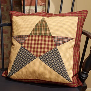 "16"" Rebecca's Patchwork Star Pillow"