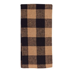 "Black Check Cotton Burlap Towel (20x28"")"