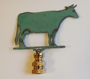 Cow Lamp Finial