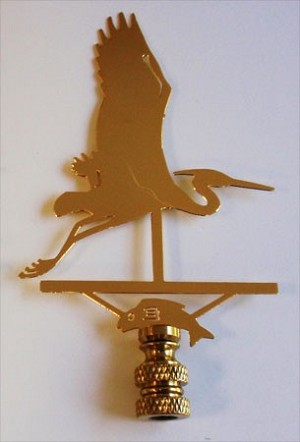 Heron Lamp Finial