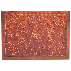 Star Circle Panel in Rustic Tin