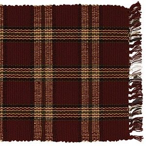 "36"" Cranberry Plaid Runner (13 x 36"")"