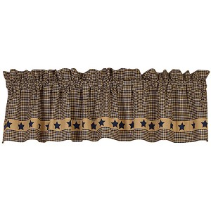 Colonial Navy Star Valance