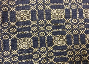 "AUTUMN FROST WEAVE NAVY 34"" SQUARE"