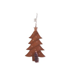 Rusty Tree Ornament with Candle