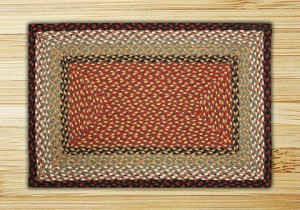 C-019 Burgundy/Mustard Braided Rug Rectangle