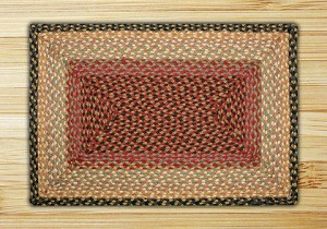 C-057 Burgundy/Gray/Cream Braided Rug Rectangle