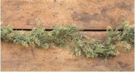 6 FT ATLANTIC WHITE CEDAR GARLAND WITH PINE CONES