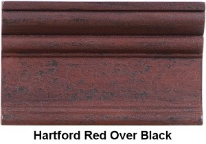 Jamestown Lamp Base in Hartford Red over Black