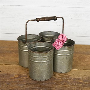 TIN CADDY 4 BINS