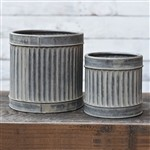 TIN RIBBED CAN