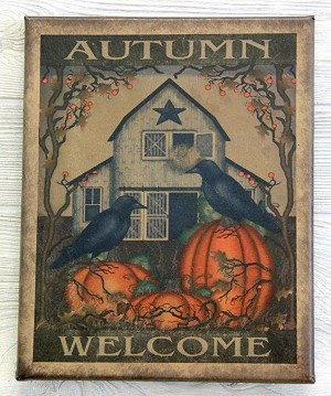 8X10 AUTUMN WELCOME