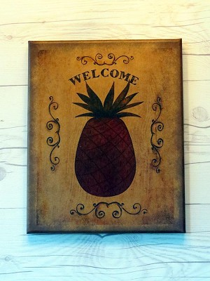 8X10 PINEAPPLE WELCOME