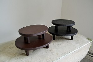 SET OF SMALL OVAL RISERS