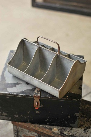 Divided Metal Cubby Tray