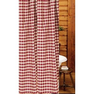 Heritage House Check Shower Curtain Barn Red