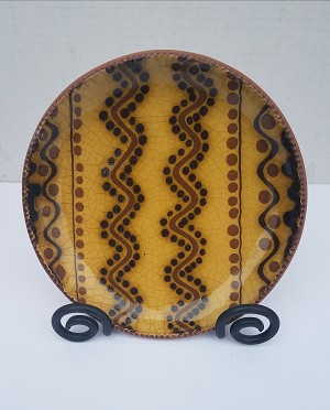 "8"" Redware Plate"