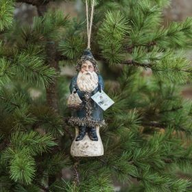 6 IN NAVY BELSNICKLE WITH TOYS ORNAMENT