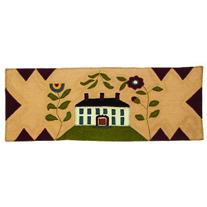 White House with Flowers Table Runner