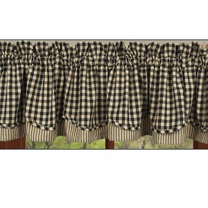 Heritage House Check Fairfield Valance Black